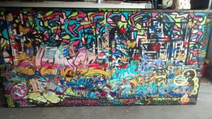 """Le' Grand Doodle""...4ft.x8ft.x4in....oil and acrylic(mixed-media)"