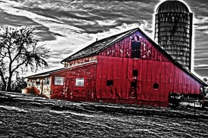 """History Runs Red: Rural Noir From Hancock County, IL"" 48""x36"" , Photography"