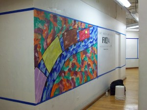 George Larson's mural for 2015's Now You See It
