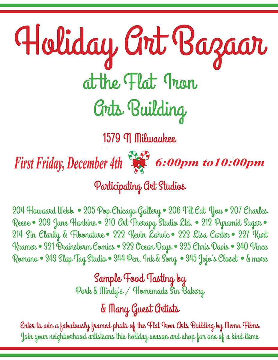 This First Friday: Holiday Bazaar!